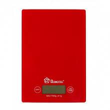 Сенсорные электронные кухонные весы до 7 кг Domotec MS 912 Красные