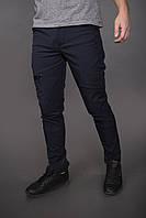 Штаны карго брюки мужские зимние теплые качественные синие Conqueror Intruder