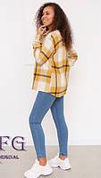 Женская теплая рубашка в клетку  012В/04
