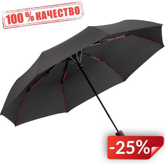 Зонт складной Fare 5583 Антрацит с красным (1054)