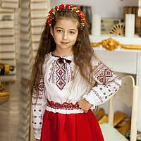 Вышиванка для девочки (ручная вышивка, 6 лет)