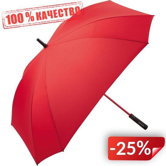 Зонт-трость Fare 2393 с большим куполом квадратный Красный (838)