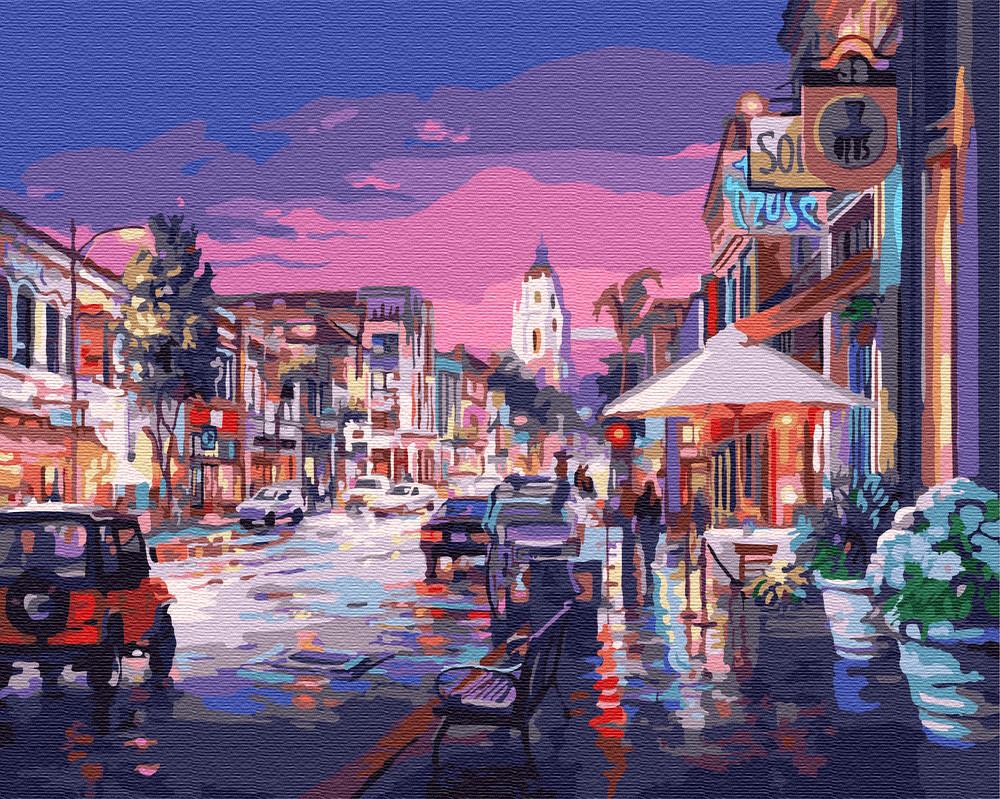 Картина рисование по номерам Brushme После дождя 40х50см рисование роспись по номерам, кисти, краски, холст