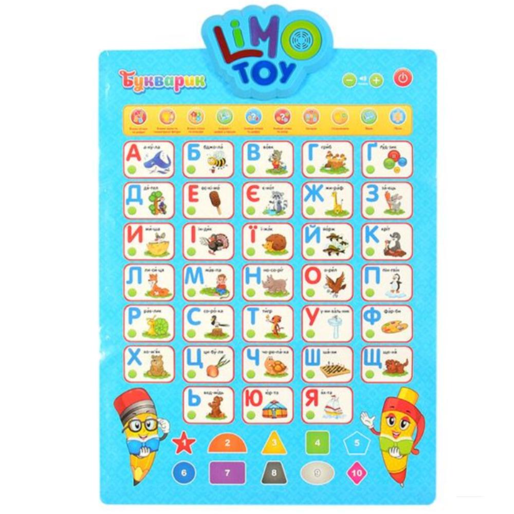 """Дитячий інтерактивний плакат """"Букварик"""" укр 7031UA-CP"""