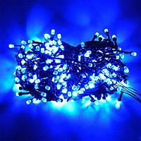 Гирлянда с лампочками конус 100 LED Синий