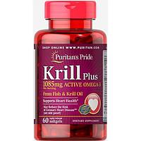 Puritan's Pride Krill Plus (1085mg Active Omega 3) 60 softgels