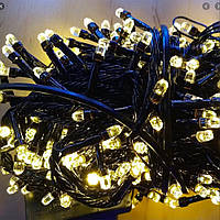 Гирлянда с лампочками конус 200 LED теплый белый