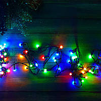 Гирлянда с лампочками конус 300 LED Мульти
