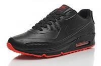 Кроссовки мужские Nike Air Max 90 First Leather  (найк аир макс 90) черные