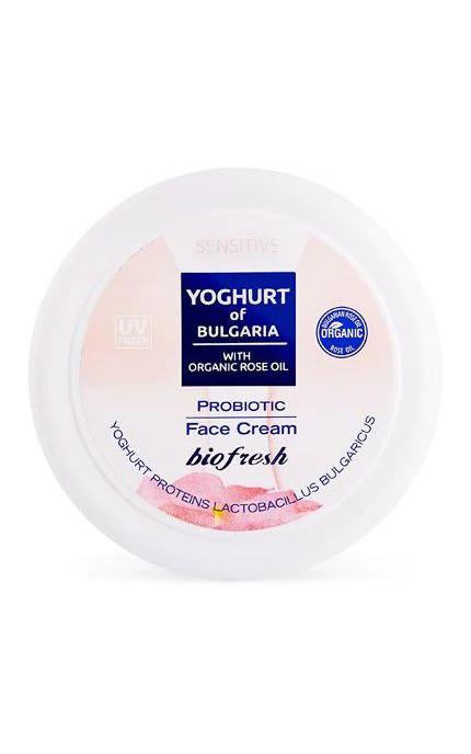 Крем для обличчя пробіотичний Yoghurt of Bulgaria від BioFresh 100 мл