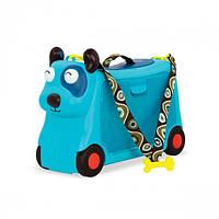 Детский Чемодан-Каталка Для Путешествий - Песик-Турист Battat Kids Ride-On Toy with Storage On the Gogo Woofer