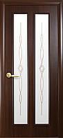 Дверь Стелла (2х0.8м) (Р1 с узором) каштан