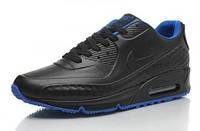 Кроссовки мужские Nike Air Max 90 First Leather  (в стиле найк аир макс 90) черные