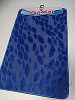 Килимки в ванну і туалет, набір 80*50 Vonaldi синій, фото 1