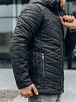 Куртка мужская зимняя до -15*С Brali черный милитари | Куртка мужская теплая с капюшоном ЛЮКС качества