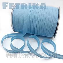 Косая-бейка хлопковая светло-голубая, 15 мм