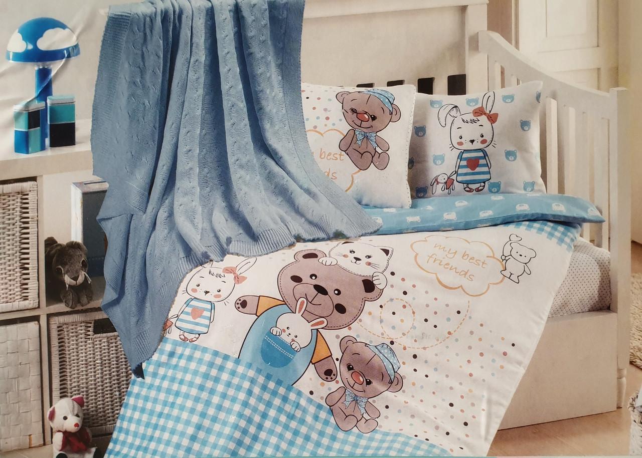 """Дитяче постільна білизна в ліжечко з пледом """"First Choice"""" (бамбук)"""