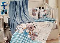 """Детское постельное бельё в кроватку с пледом """"First Choice"""" (бамбук), фото 1"""