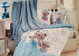 """Детское постельное бельё в кроватку с пледом """"First Choice"""" (бамбук)"""