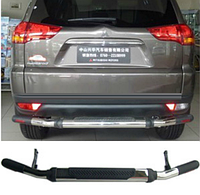 Защита заднего бампера Mitsubishi Pajero Sport 2009-2013