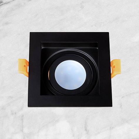 Чёрный квадратный светильник, фото 2