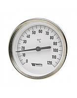 Термометр биметаллический WATTS TB-63/50 с погружной гильзой