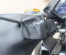 Утеплённые накладки на руль  Перчатки на меху Варежки на скутер мото, фото 3