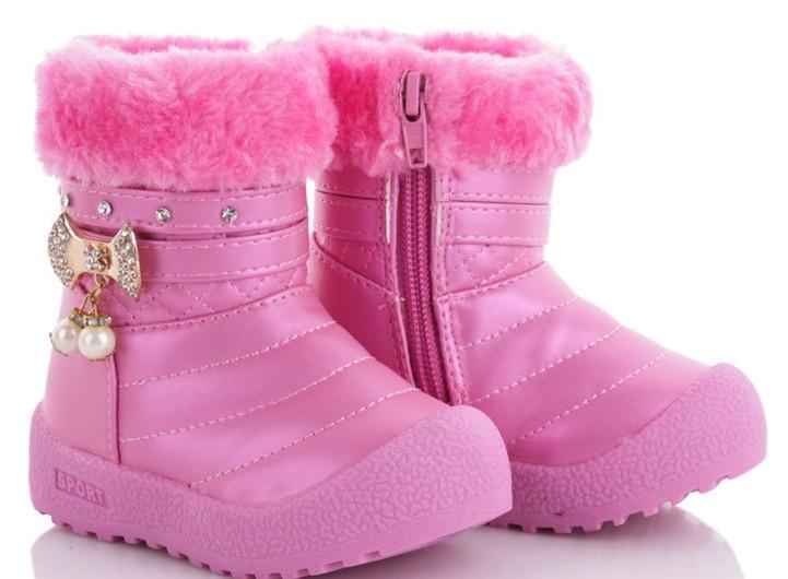 Зимние сапожки для девочки размер 24-14.5 см.