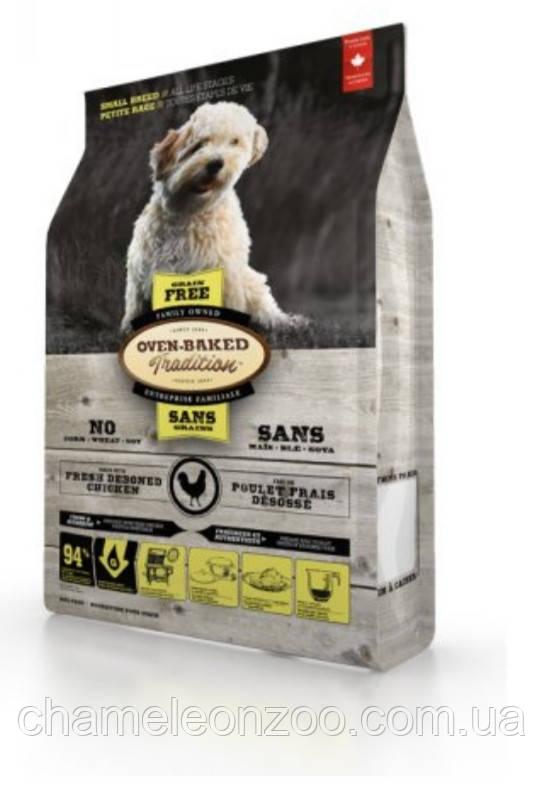 Сухой корм Bio Biscuit беззерновой Oven-Baked Tradition для собак малых пород со свежим мясом курицы 1 кг