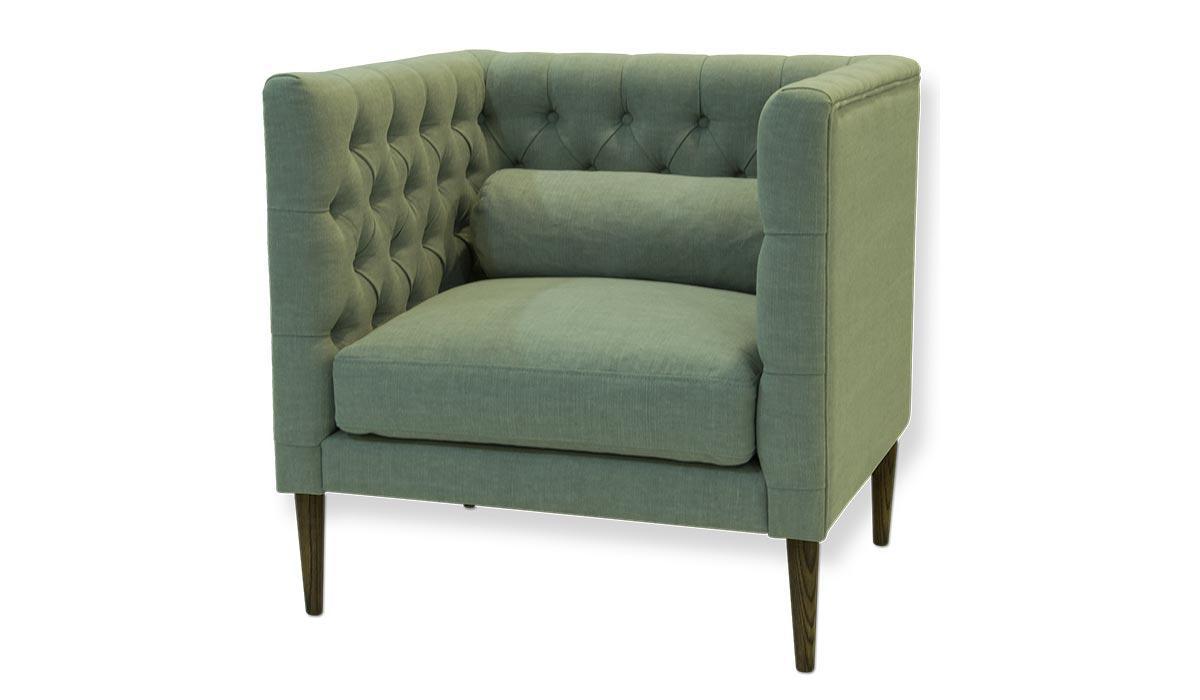 Кресло Ральф прямое, модерн, скандинавский стиль, подушка-валик ,не раскладное, с пиковкой. Под заказ