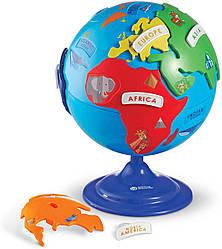 Дидактичний Глобус-пазл, діаметр 20 см