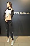 Женский прогулочный спортивный костюм, черный, Турция Жіночі модні костюми, фото 7