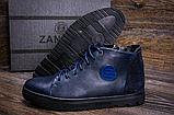 Стильные кожаные мужские зимние ботинкт ZG Blue, фото 2