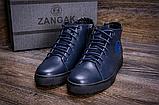 Стильные кожаные мужские зимние ботинкт ZG Blue, фото 3