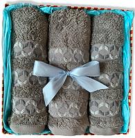 Подарунковий набір бабуковых рушників Туреччина STEEL