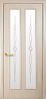 Дверь Стелла ПВХ DeLuxe (2х0.8м) (Р1 с узором) ясень