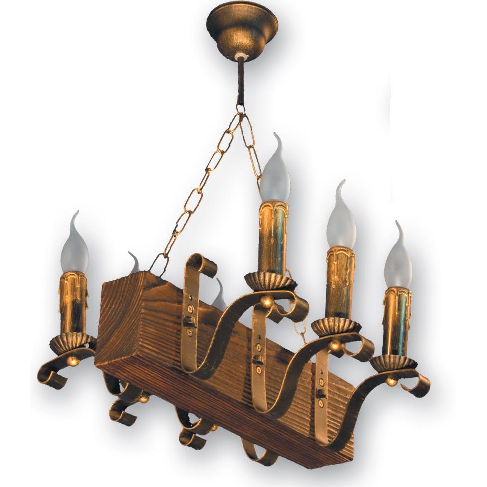 Люстра подвесная 6 свечей Е14 серии Lilia 130926