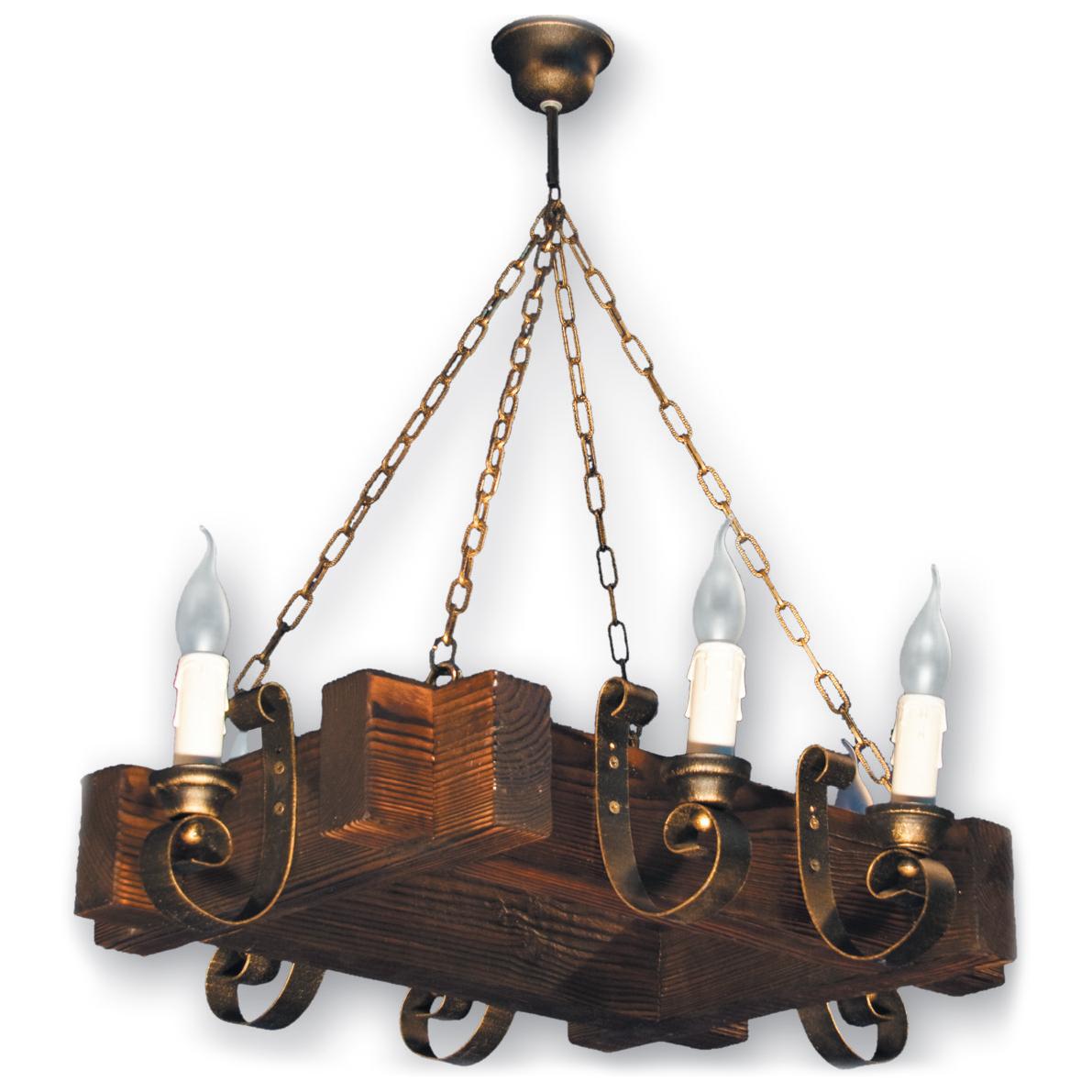 Люстра подвесная 6 свечей Е14 серии Venza 210526