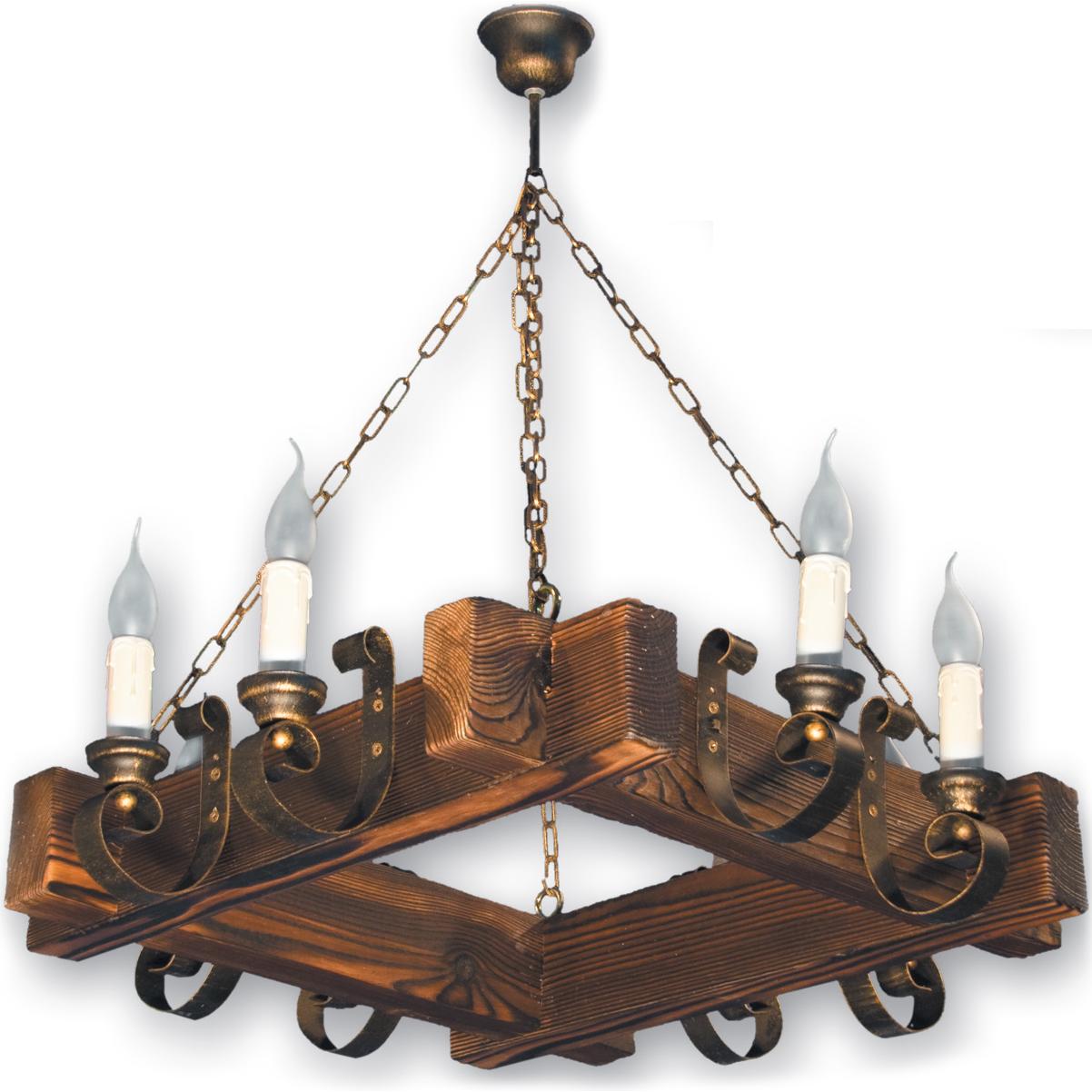 Люстра подвесная 8 свечей Е14 серии Venza 230528