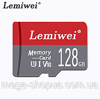 Карта памяти 128GB microSD Class 10 + SD-adapter. Карта памяти микро сд 128 гб Lemiwei Memory Card WE431D