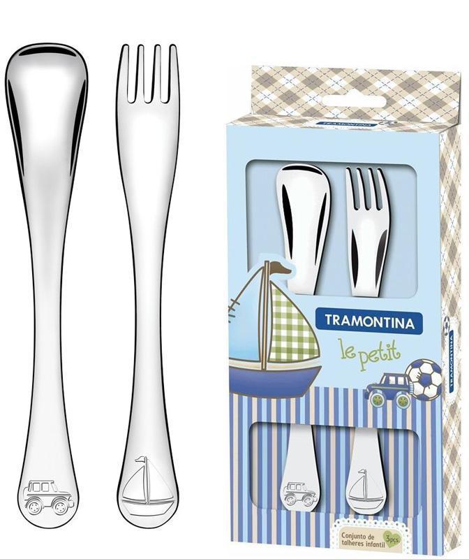 Набор столовых приборов Tramontina Baby Le Petit для детей 2 предмета голубой