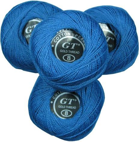 Нитки ирис сине-голубой № 512