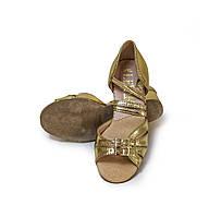 Туфли детские для бальных танцев Levant 7000/6 золотые