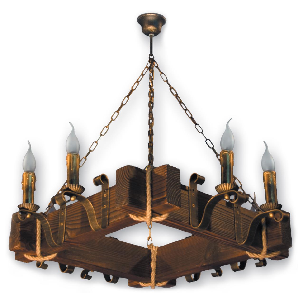 Люстра подвесная 8 свечей Е14 серии Lilia 230928