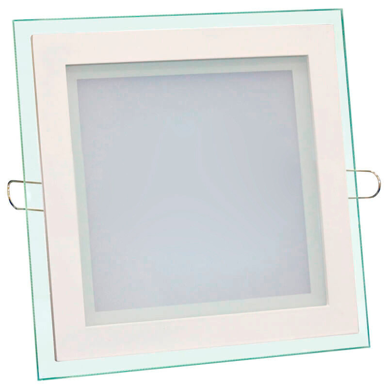 Светильник LED встр. BIOM GL-S 18W стекло квадратный
