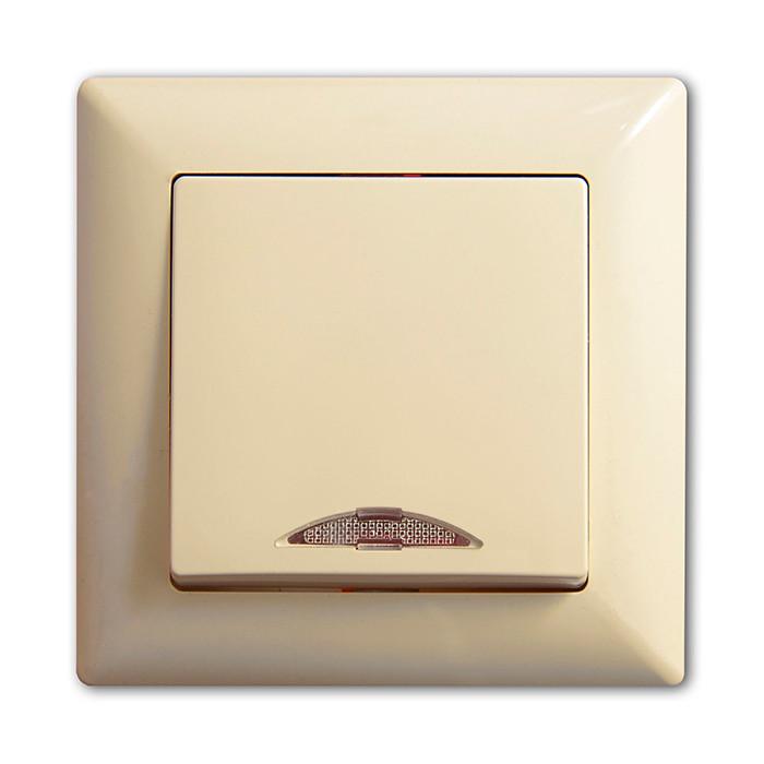 Выкл. однокл. внутренний с подсветкой Günsan Visage Крем