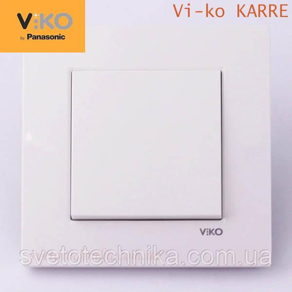 Кнопка звонка (открытие замка)  VI-KO Karre (белого цвета)