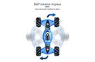 Трюковая машинка перевертыш на радиоуправлении (Синий) с пультом управления, фото 5