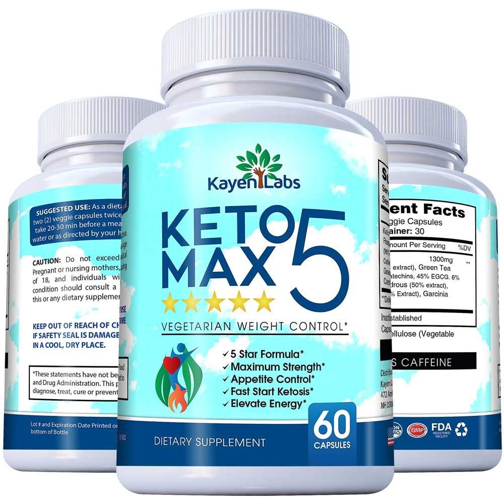 Keto 5 Star Max (Кето 5 Стар Макс)- капсулы для похудения