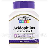 """Смесь пробиотиков Acidophilus """"21st Century"""" 100 капсул"""
